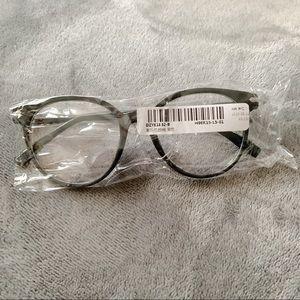 Non-prescription black framed glasses